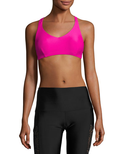 Weave Sports Performance Bra, Pink