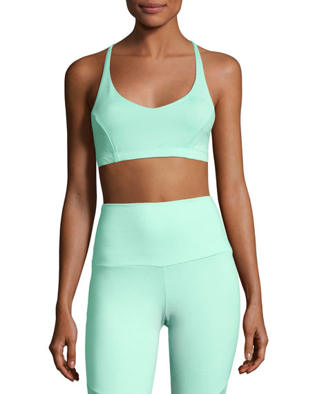 Onzie Pyramid Sports Performance Bra, Green