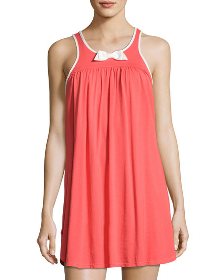kate spade new york coral bow-embellished chemise, tangerine