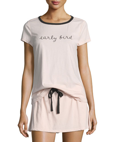 early bird skort pajama set