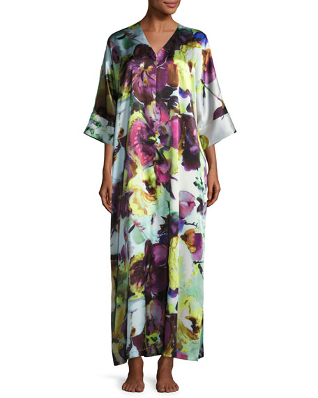 Christine Designs Dolce Vita Silk Caftan, Multi Pattern