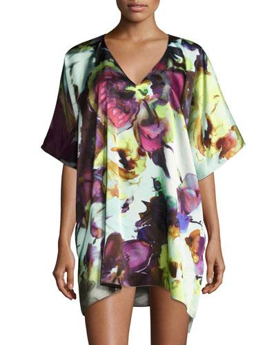 Dolce Vita Silk Tunic, Multi Pattern