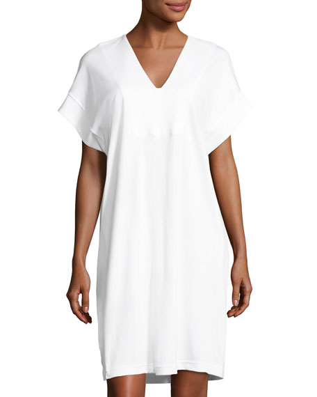 Cool Nights Poplin Sleep Shirt, Off White