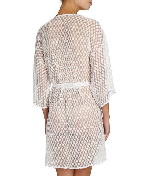 Love Always Lace Kimono Robe, Ivory