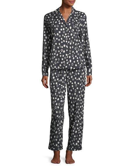 Desmond & Dempsey Dot-Print Classic Pajama Set