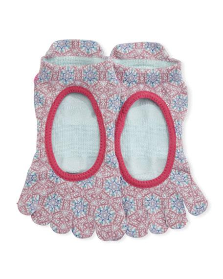 ToeSox Bellarina Prism Grip Full Toe Athletic Socks,