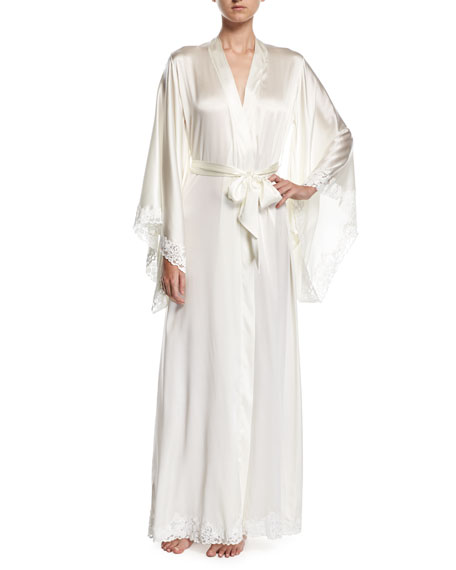 La Perla Azalea Long Kimono Robe, Off White