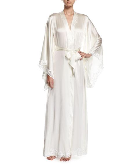 Azalea Long Kimono Robe, Off White