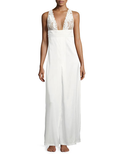 Azalea Lace-Trim Nightgown