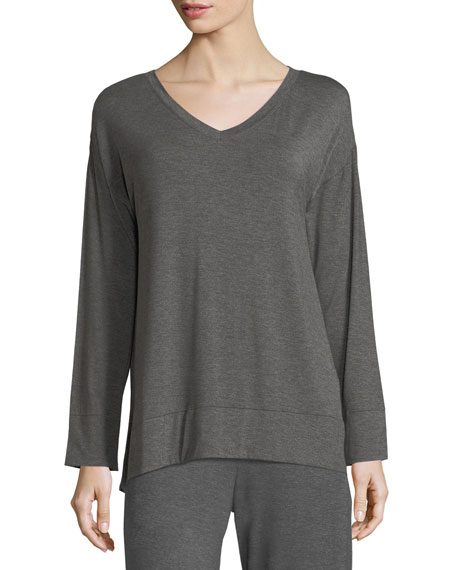Skin Long-Sleeve Jersey-Knit Lounge Tunic