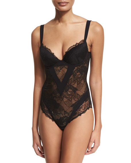 Dentelle Design Lace Bodysuit by Lise Charmel