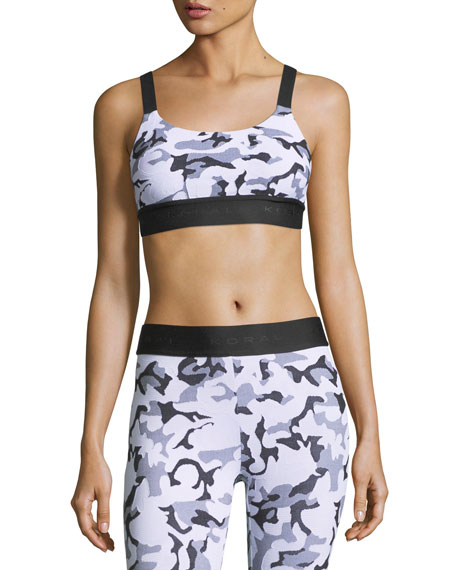 Koral Activewear Dare Camo-Print Athletic Sports Bra