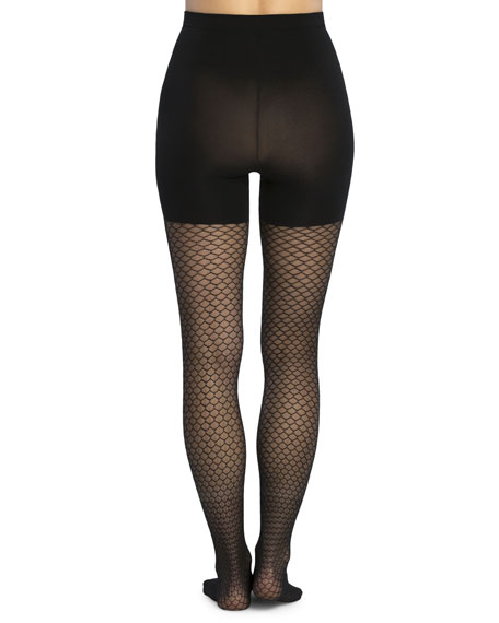 Honeycomb Fishnet Control-Top Tights