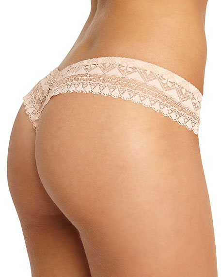 Violeta Lace-Trim Thong