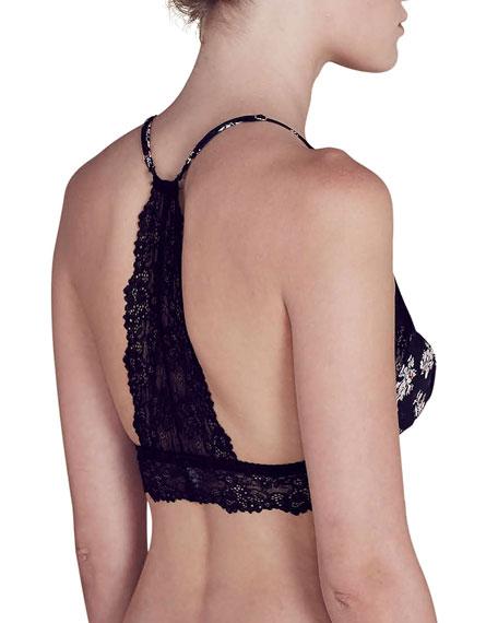 Lou Floral-Print Lace Bralette