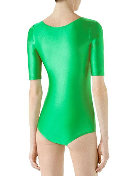 Shiny Jersey Bodysuit