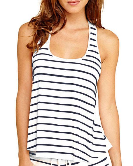 Eberjey Striped Racerback Lounge Tank