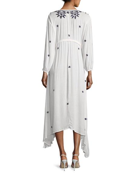 Juliet Embroidered Caftan Maxi Dress