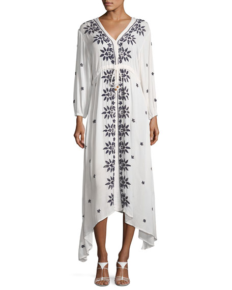 RAGA Juliet Embroidered Caftan Maxi Dress