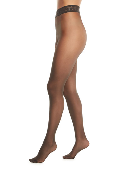 Wolford Fatal 15 Matte Sheer Tights with Adjustable