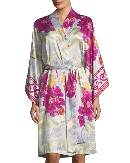 Natori Auburn Floral Long Sleeve Robe