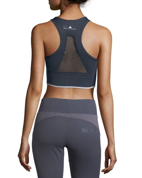 Seamless Light-Support Zip-Front Performance Sports Bra