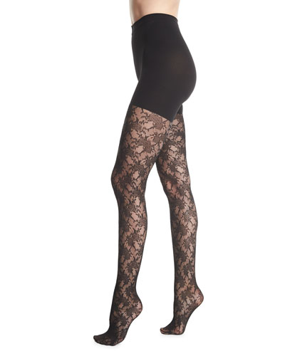 Lovely Lace Control-Top Tights