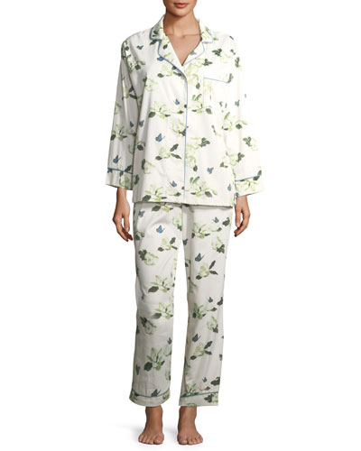 Magnolias Long-Sleeve Pajama Set