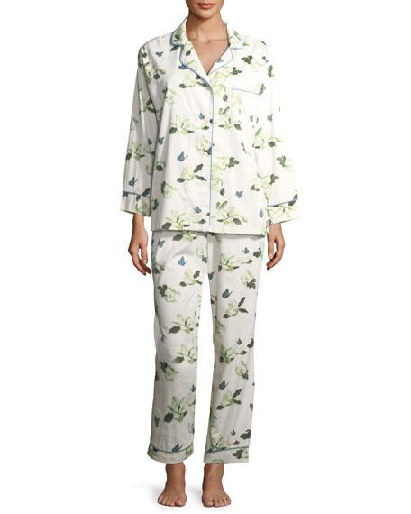 Magnolias Long-Sleeve Pajama Set
