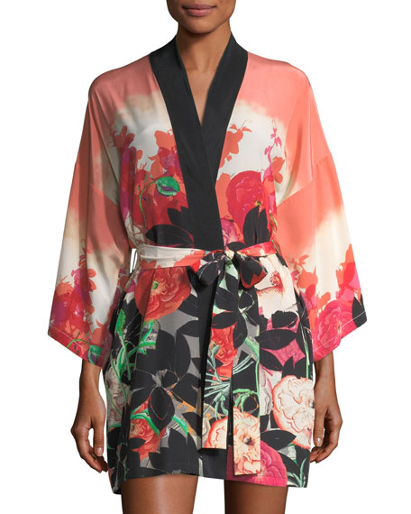 Christine Designs Gypsy Rose Short Silk Robe and