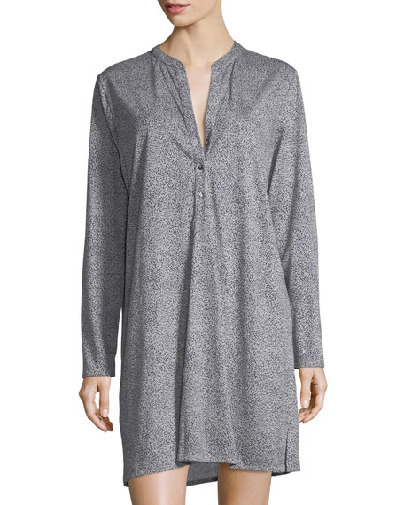 Hanro Sleep & Lounge Long-Sleeve Nightgown