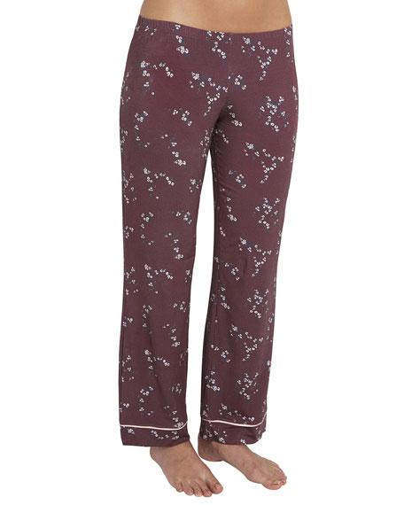 Eberjey Daisy Jersey-Knit Pajama Pants