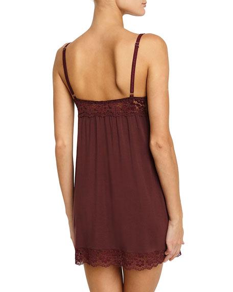 Lila Jersey-Knit Lace-Trim Chemise