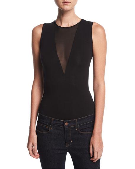 Kendall + Kylie V-Plunge Jersey Bodysuit