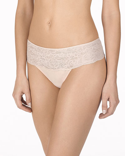 Retouch Lace-Trim Thong