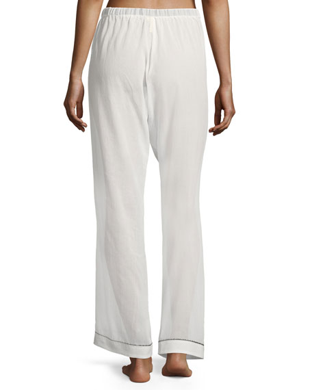 Chantal Contrast-Trim Pajama Pants