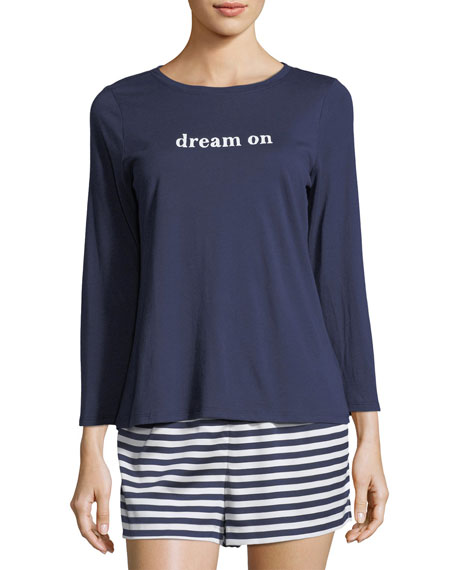 dream on striped short pajama set