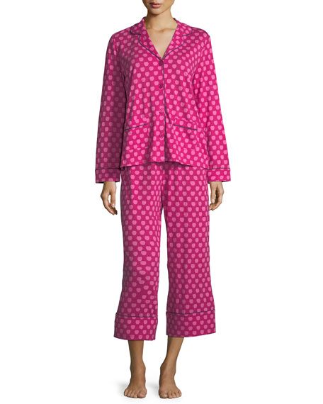 kate spade new york apples cropped pajama set