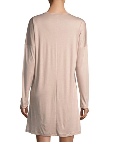 Pure Opulence Lace-Trim Sleepshirt