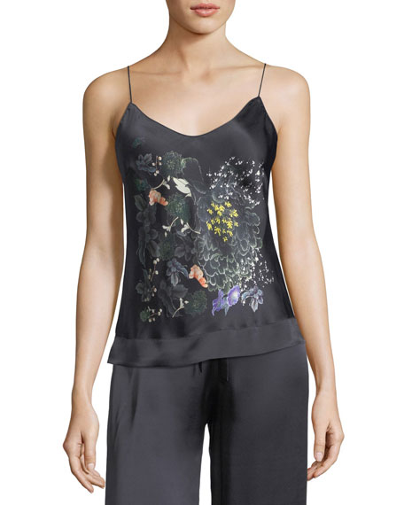 Meng Floral-Print Silk Camisole