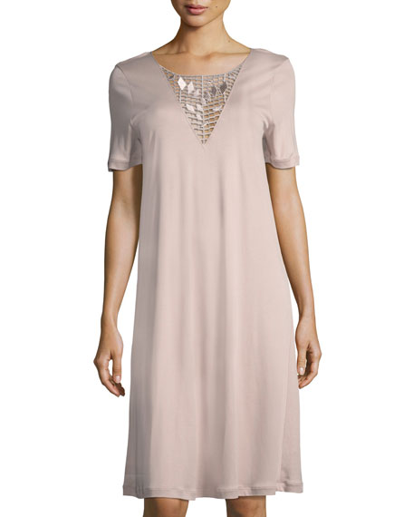 Hanro Violetta Short-Sleeve Nightgown and Matching Items