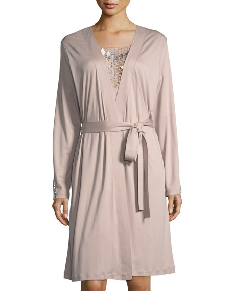 Hanro Violetta Jersey Short Robe