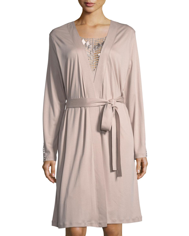 ae615c96a4 Hanro violetta jersey short robe neiman marcus jpg 1200x1500 Habro robes