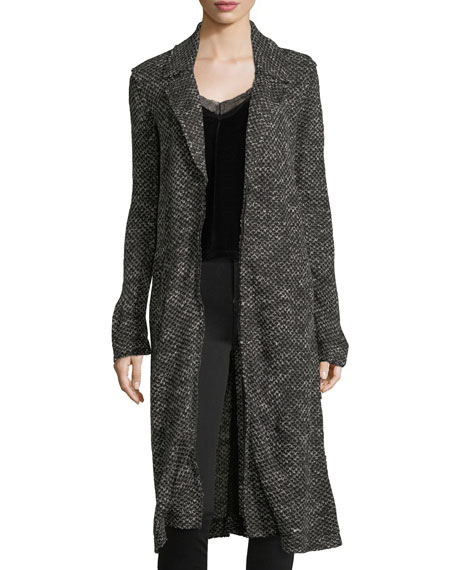 Notch-Collar Duster Cardigan