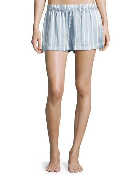 Asceno Striped Silk Pajama Top and Matching Items