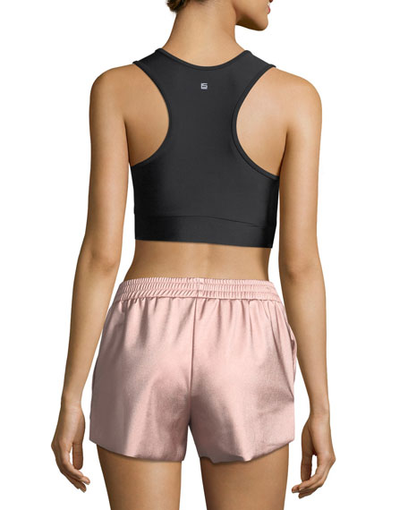 Zoe Metallic-Block Performance Sports Bra