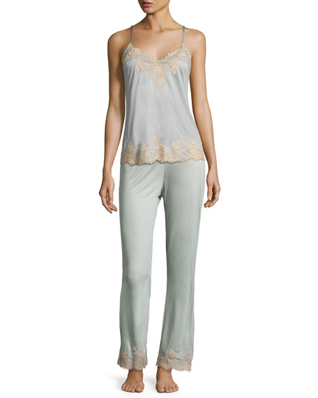 Charlize Lace-Cuff Lounge Pants