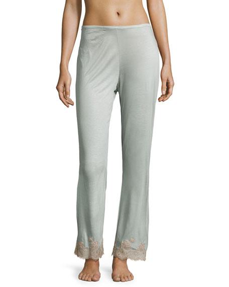 Josie Natori Charlize Lace-Cuff Lounge Pants