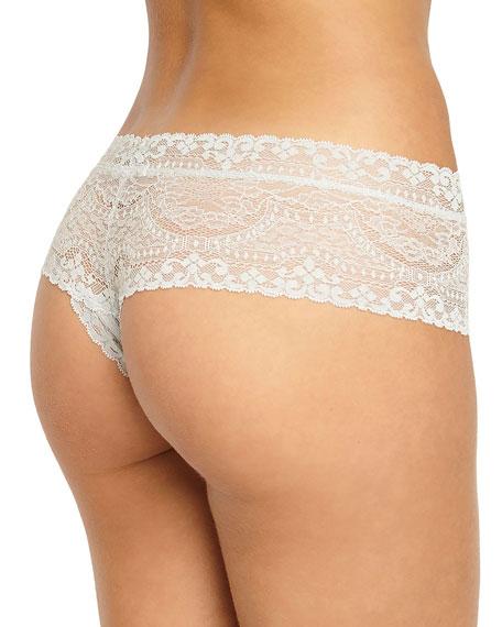 Elvia Lace-Trim Boy-Leg Thong