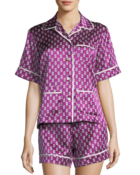Milllicent Billie Silk Shortie Pajama Set